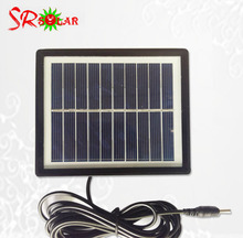 6V 5W Small solar PV Modules with 3m cable plastic frame