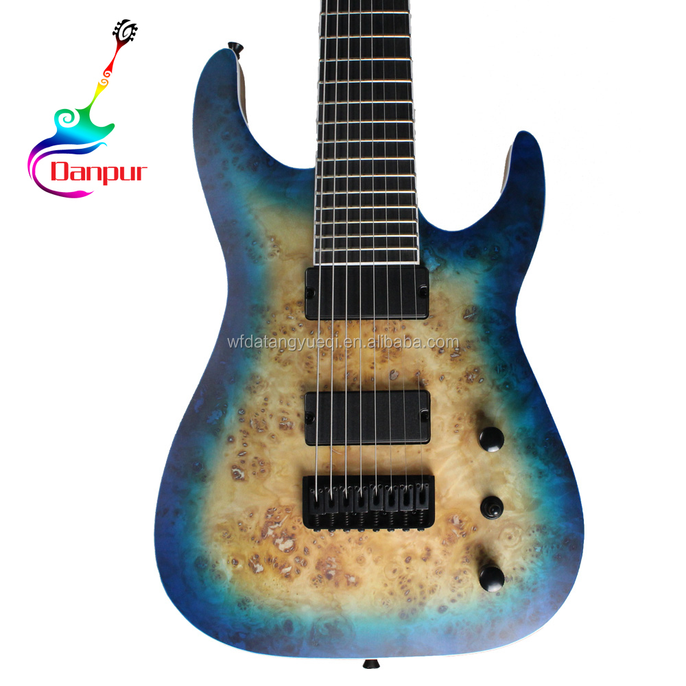 High quality cheap 8-string paypal china made electric guitar