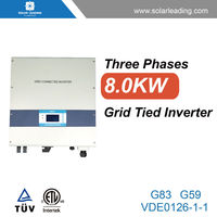 Widely used 8000w dc to ac inverter 3 phase connect to ul power cable for solar electricity generating system for home