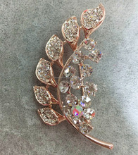 Gold Rhinestone Brooch Pins,Hot Sale Brooches With Leaves Shape,Brooches For Dress