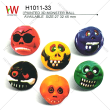 27mm/32mm/45mm halloween skull ball 3D bouncing ball promotional items toys Festival gift Haunted House souvenir (H1011-33)