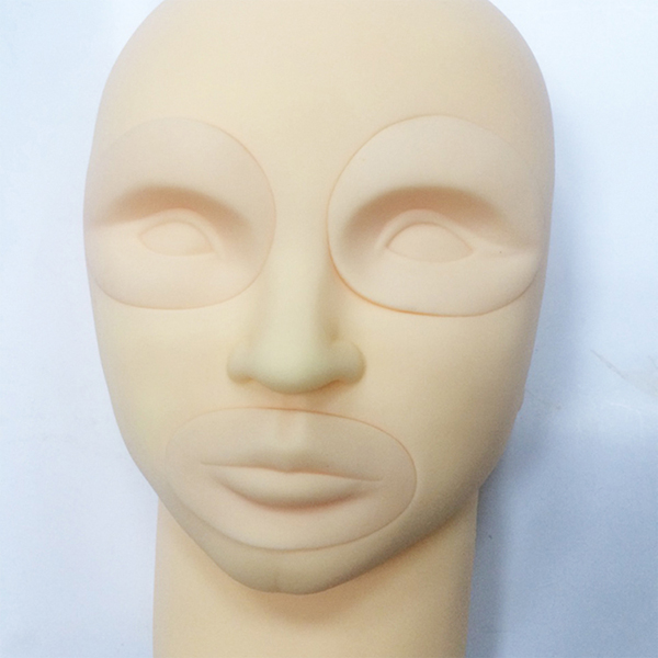 cosmetic tattoo practice mannequin head with removablve