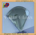 beveled silver mirror glass