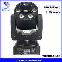 WLEDM-01-1B CE 30w leds gobo spot and wash led moving head profesional dj equipment
