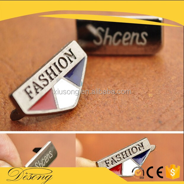 LOGO54 Hot selling metal logo label customized clothing label metal accessories name plates for handbags
