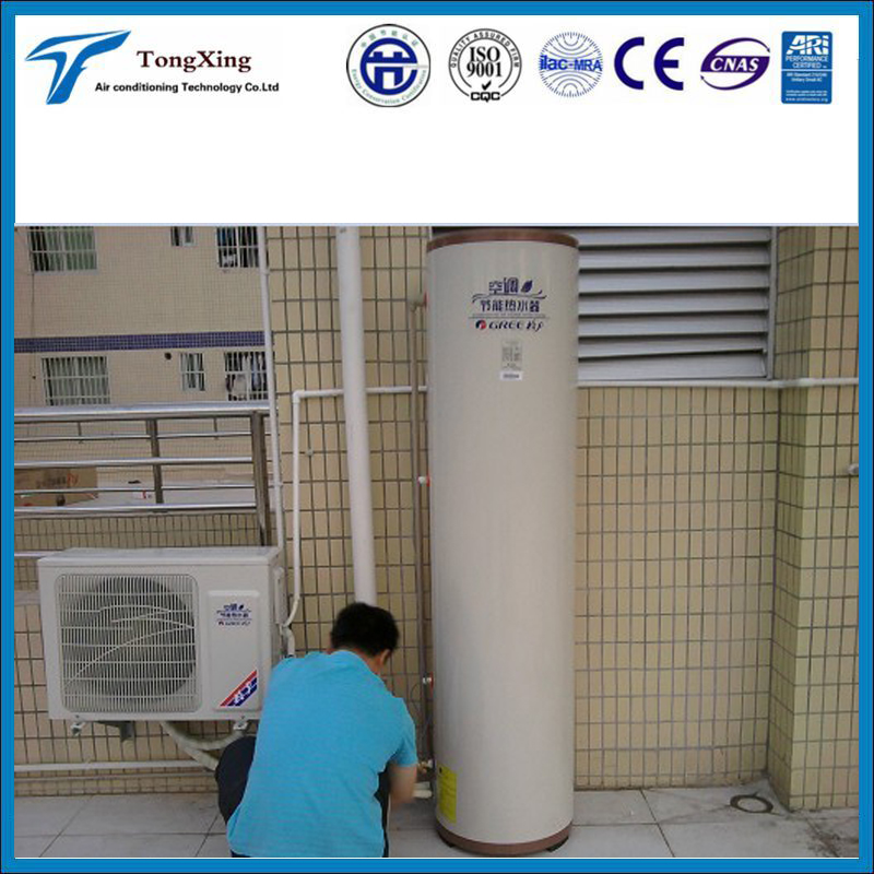 Hot water heating device split air conditioner and heater