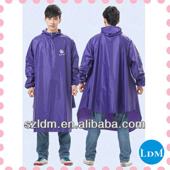 Pvc Nylon Fashionable Rain Poncho