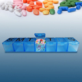 Plastic pill storage case for 7 days 1 week