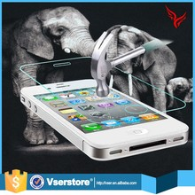New 0.3MM Shenzhen factory accept paypal 9H 2.5D full cover tempered glass for iphone 4 4s screen protector
