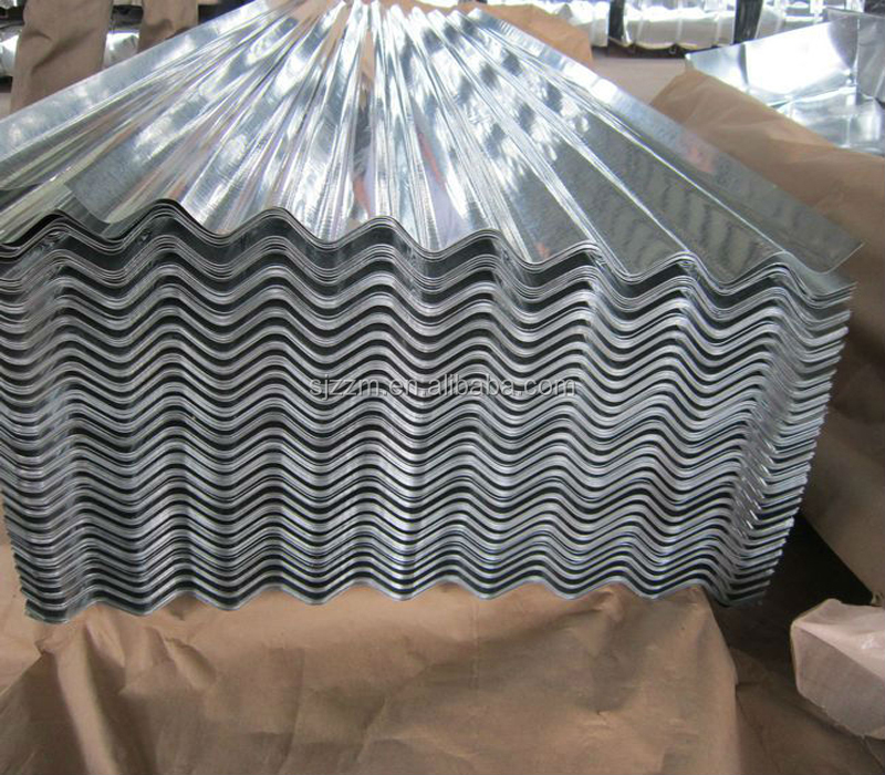 Prepainted And Galvanized Corrugated Sheet Steel Ral 5015 Blue