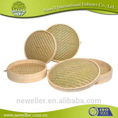 Good Quality bamboo steamer 14 inch set For Korea mart