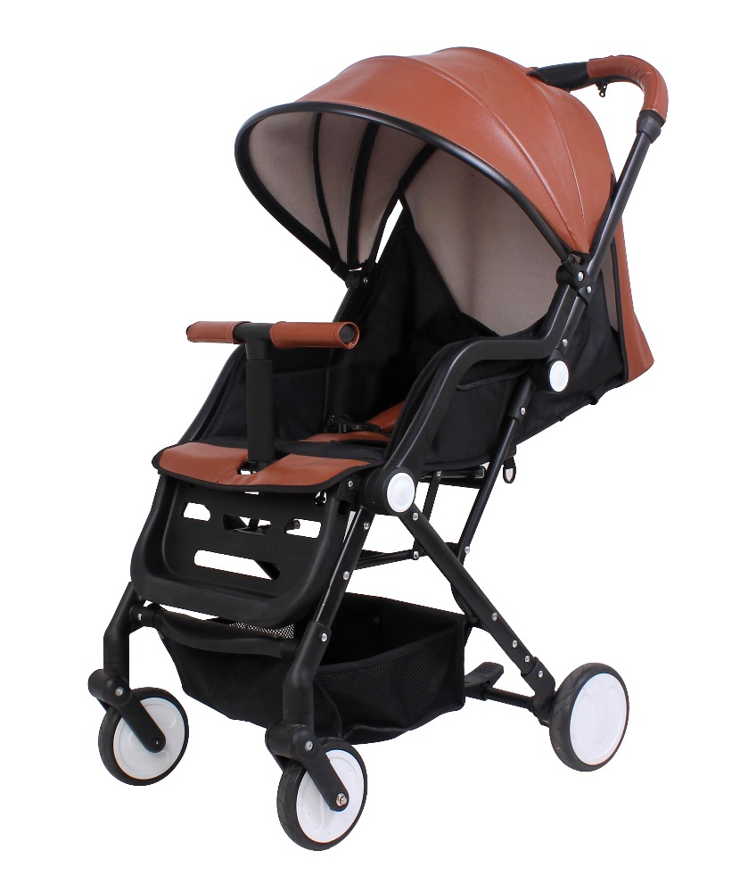 2017 Belecoo New Fashion PU Leather Lightweight Baby Stroller Wholesale Child Pram A390