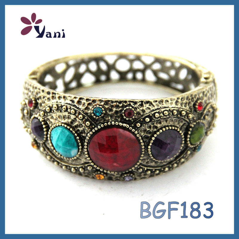 Good quality native american costume vintage jewelry Gemstone beads bracelet for man