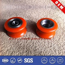 Red rubber roller sleeve with metal part inside