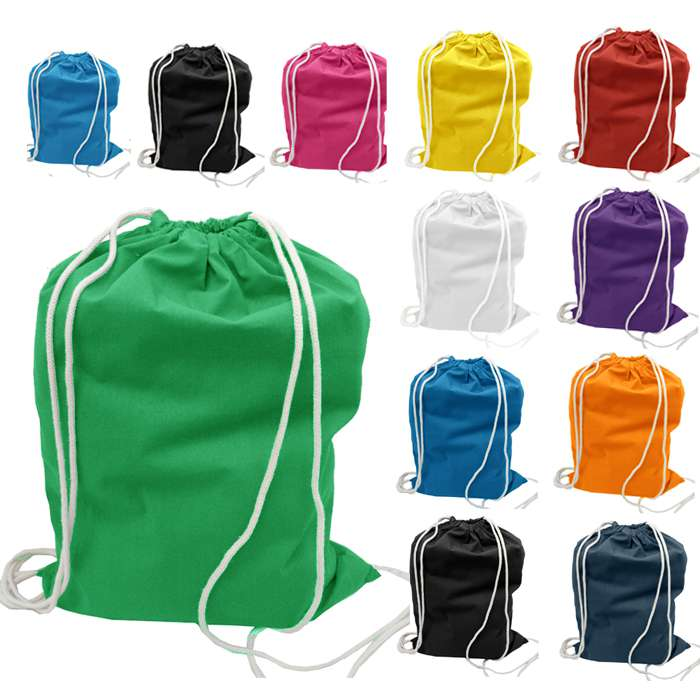 Chinese factory customized eco cotton drawstring bag for halloween