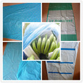 LDPE plastic blue Banana bag with perforation