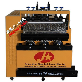top quality and high production 410 wire JX-A6 scourer making machine