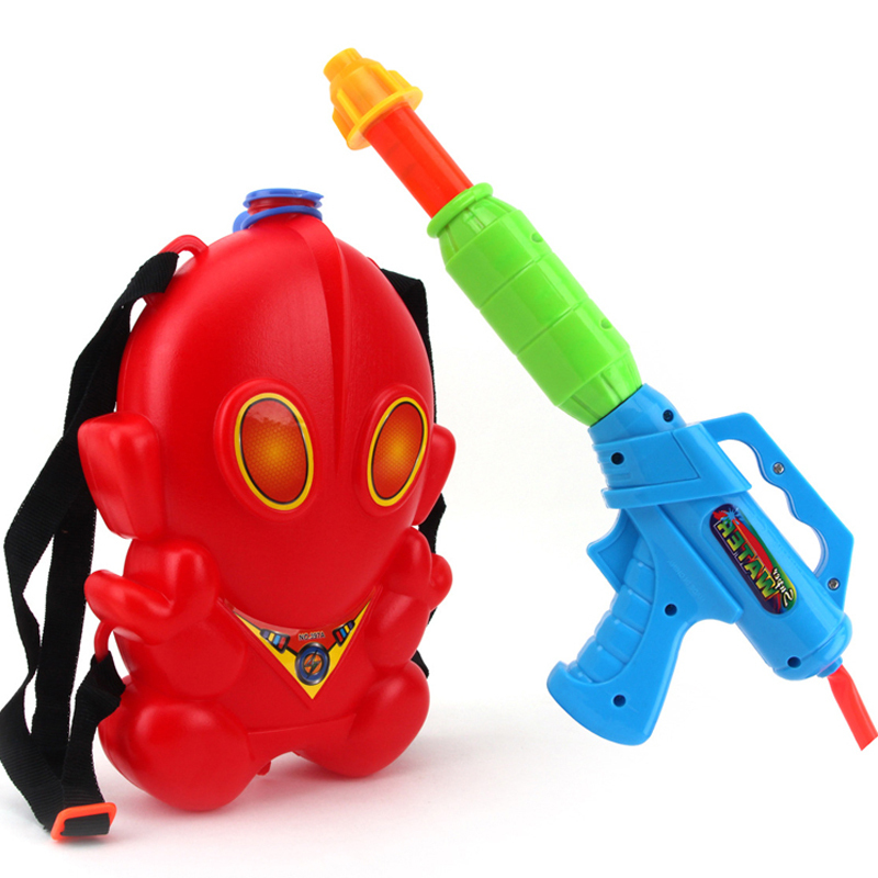 Plastic Toys Big Toy Water Gun Backpack Pistol Inflatable Pressure Gun Outdoor Sports Fun Summer Beach Squirt Nerf Water Bullet