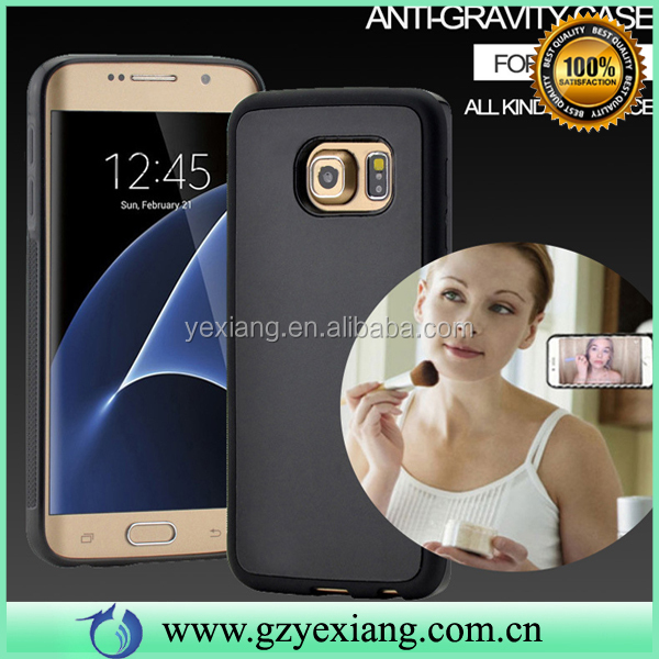 Hot Selling Adsorbable Anti Gravity Case For Samsung Note 5 Selfie Suction Back Cover