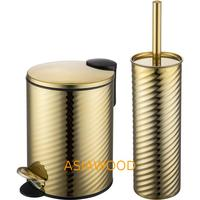 Best selling stainless steel toilet brush holders and dust bin with good quality