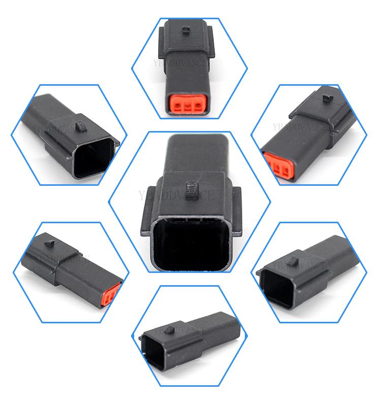 3 pin molex sealed electrical single row crimp automotive connectors