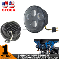 USA STOCK 40W led motorcycle headlight For Harley Davidson