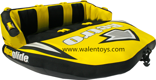 China supplier Inflatable Towable Raft Water Toy 3 Rider Boat Tube Lake Boating Towing Sports,approved EN71&ASTM