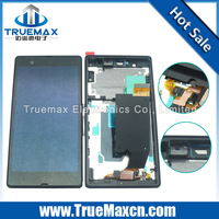 Wholesale Repair Parts Cell Phone Touch Screen for Sony Xperia Z L36h LCD Display Screen Complete with Frame