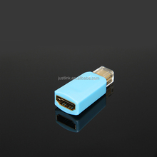 Cute Portable Mini Displayport DP Display Port To HDMI cable Converter Adapter Male to Female Audio Output For Mackbook