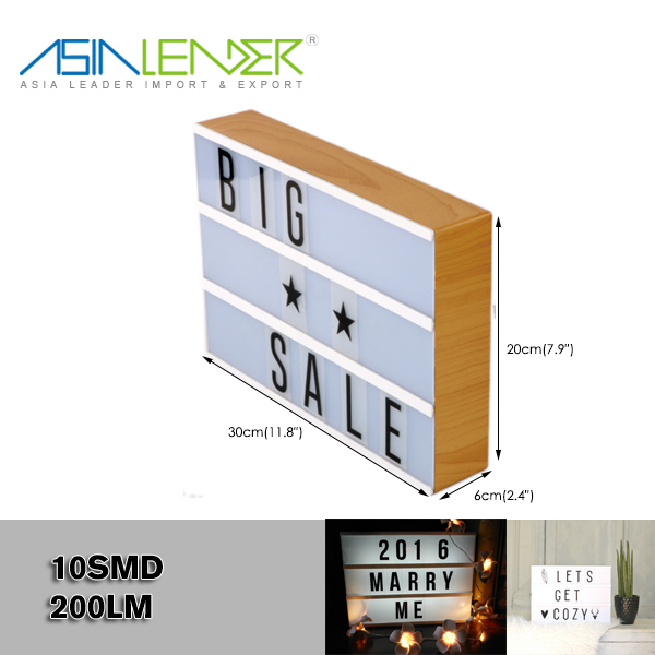 A4 Size Text Letter Box Message Board 6 Aa Battery Power 100 White