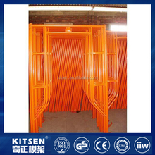 Convenience Painted Steel Door Movable H Frame Scaffolding