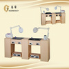 DM-126 modern protable double nail manicure table with CE for sale