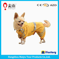 Pet Clothes Dog Raincoat with refective stripes