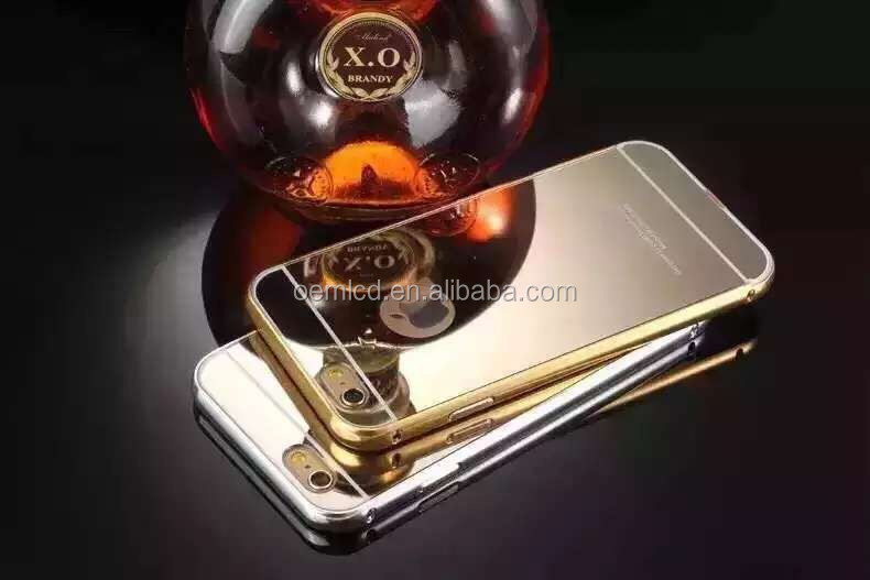 metal for iphone case mirror with bumper case for iphone 5,for i phone 5 case