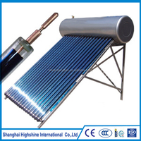 2017 Top High Quality Stainless Steel Pressure Solar Hot Water Heater With Heat Pipe