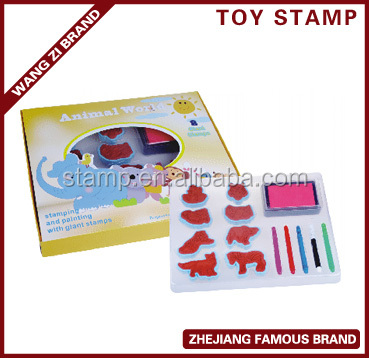 EVA Foam Stamp Set with animal pattern decorated