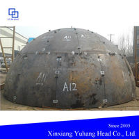 Special shaped spherical heads cap for the hot-blast stove