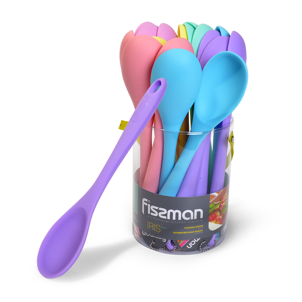 colorful kitchen utensil silicone spoon