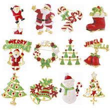 Hot sale wish Amazon 2016 MOQ 12pcs wholesale cheap christmas style jewelry snowman women brooch