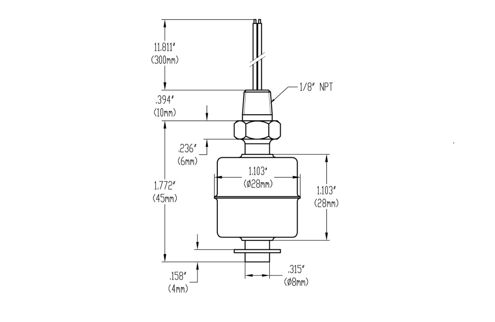 MR1045-S HIGH TEMPERATURE FLOAT SWITCH