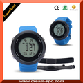 Heart Rate Pedometer with 3d Sensor Calorie Step Sport Watch with Chest Belt Round Case OEM Colors