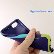 Soft TPU Fashion Dual Color Frame Diamond Pattern Waterproof Mobile Phone Case For Iphone 6