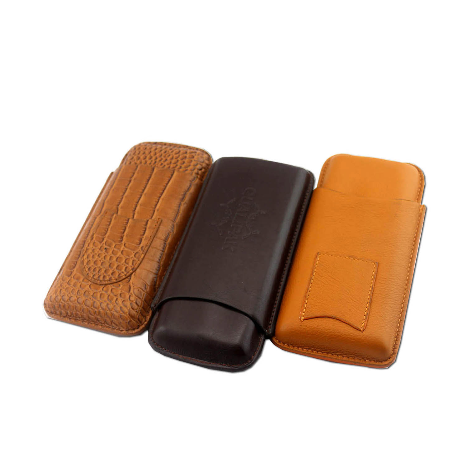 ustom PU Leather Travel Gift Tube Accessories Holder Cigar Case