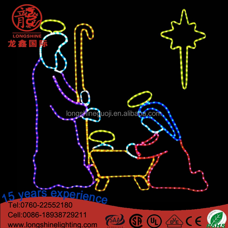 LED Birth of Jesus Scene Nativity Christmas Motif Rope Lights