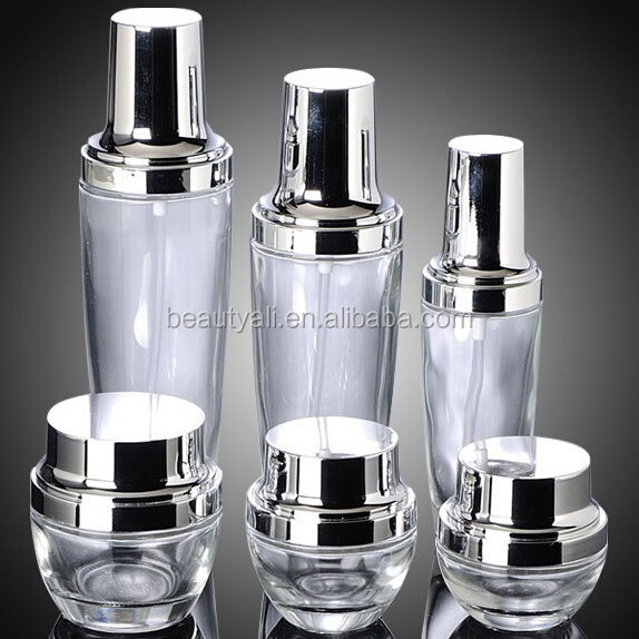 30ml 50ml Glass Crean Jar For Face Cream glass lotion bottle