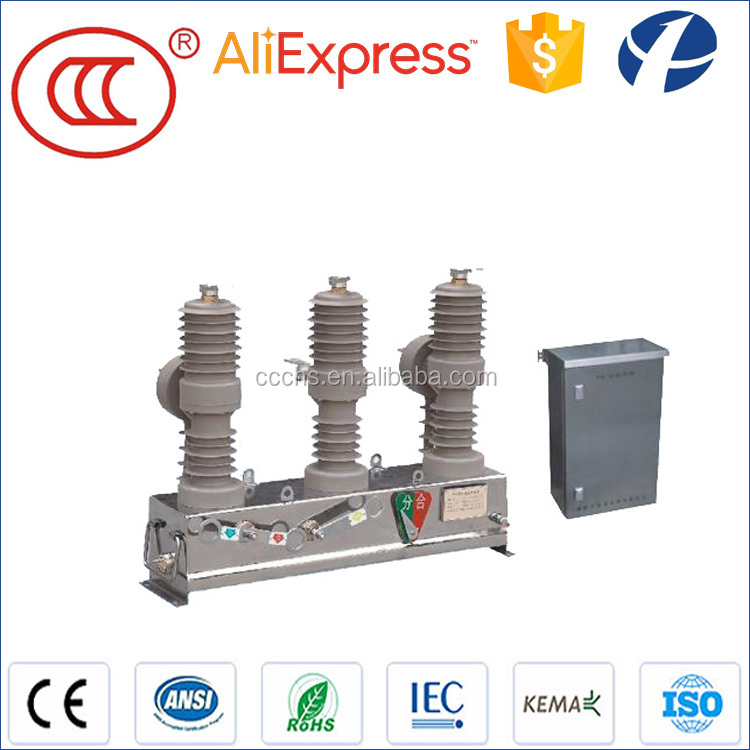 24KV outdoor vacuum circuit breaker recloser with remote control and pts&cts