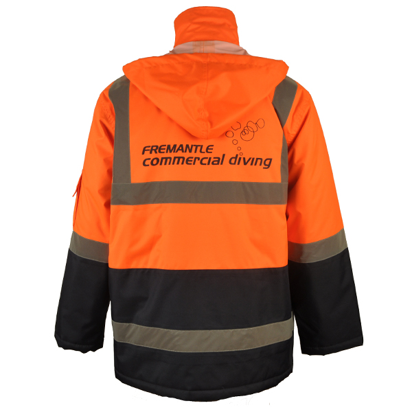 Wholesale oxford rain jackets 3M reflective tape work jackets man workwear