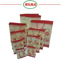 Factory Direct Wholesale stand up plastic bag good quality plastic gift handle bag