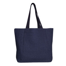 Portable tote shopping jute bag with zipper
