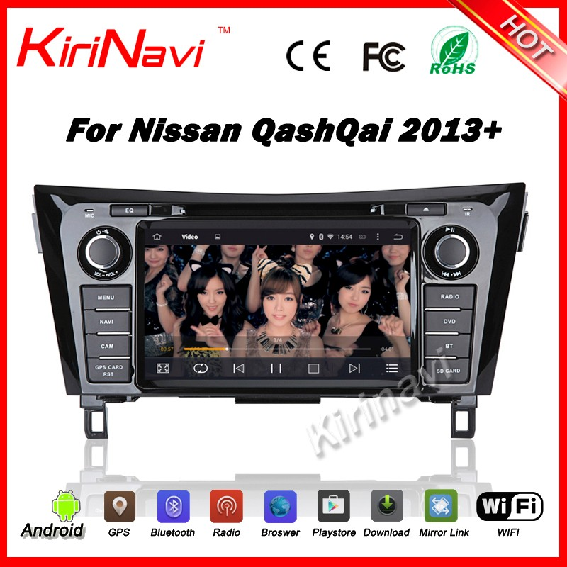 Kirinavi WC-NU8052 android 5.1 car navigation gps for nissan qashqai radio cd 2013+ touch screen stereo player with playstore